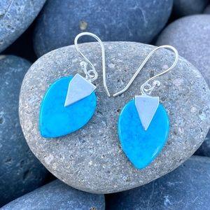 SUNDANCE turquoise earrings sterling silver stone